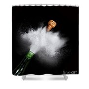 Champagne Cork Popping Shower Curtain