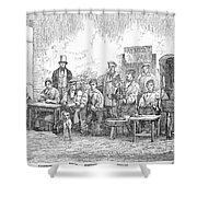Champagne Production, 1855 Shower Curtain