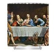 Champaigne: Last Supper Shower Curtain