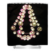 Chandelier From Pearls Shower Curtain