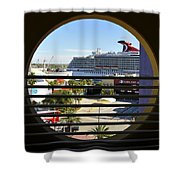 Channelside Tampa Art Deco Shower Curtain