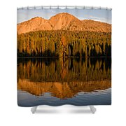 Chaos Crags Reflecting Shower Curtain