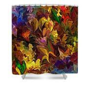 Chaotic Canvas Shower Curtain