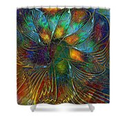 Chaotic Colour Shower Curtain