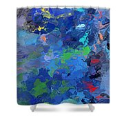 Chaotic Nature Shower Curtain