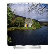 Chapel At Gougane Barra, Co Cork Shower Curtain by The Irish Image Collection