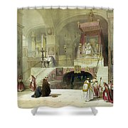 Chapel Of The Annunciation Nazareth Shower Curtain