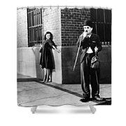 Chaplin: Modern Times, 1936 Shower Curtain