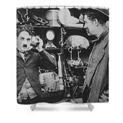 Chaplin: The Pawnshop Shower Curtain