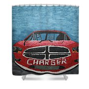 Charger Art By My Son Shower Curtain