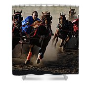 Rodeo Chariot Race Shower Curtain