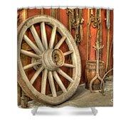 Chariot Wheel Shower Curtain