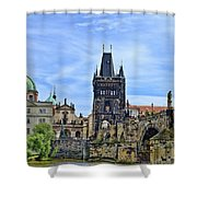 Charles Bridge And Church Dome Shower Curtain
