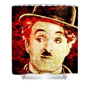 Charles Chaplin Shower Curtain