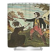 Charles Gibbs, American Pirate Shower Curtain by Photo Researchers