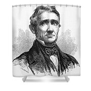 Charles Goodyear /n(1800-1860). American Inventor. Line Engraving, 19th Century Shower Curtain