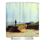 Charleston Battery, 1864 Shower Curtain