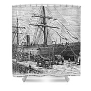 Charleston: Cotton Ship Shower Curtain