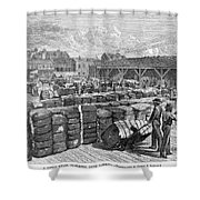Charleston: Cotton Wharf Shower Curtain