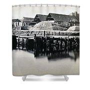 Charleston South Carolina - Vanderhorst Wharf - C 1865 Shower Curtain