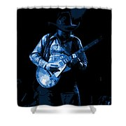 Playing The Blues At Winterland In 1975 Shower Curtain
