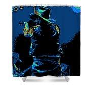 Winterland Cosmic Fiddler Shower Curtain