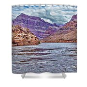 Charting The  Mighty Colorado River Shower Curtain