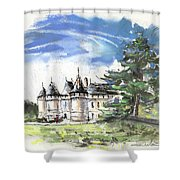 Chateau De Chaumont In France Shower Curtain
