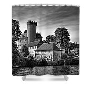 Chateau On The Lake At Annecy Shower Curtain