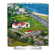 Chatham Lighthouse Cape Cod Massachusetts Shower Curtain
