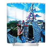 Chauvin La Sculpture Garden Shower Curtain