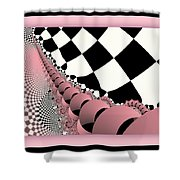 Checkers The Mouse Mechanical Tail Shower Curtain