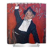 Cheers Shower Curtain by Tom Roderick
