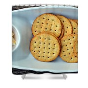Cheese And Crackers Shower Curtain