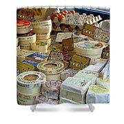 Cheese For Sale Shower Curtain