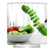 Chefs Making Salad Shower Curtain
