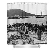 Chemulpo Harbor - Korea - 1903 Shower Curtain