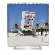 Chen Rio Beach Bar Cozumel Mexico Shower Curtain