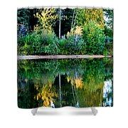 Chena River View Shower Curtain