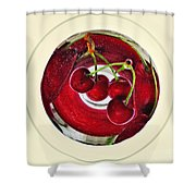 Cherries In A Wine Glass Shower Curtain