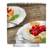 Cherry Dessert Shower Curtain