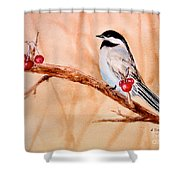 Cherry Picker Shower Curtain