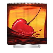 Cherry Splash Shower Curtain