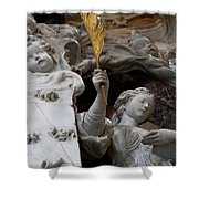Cherubs And Angels With Gold Leaf Shower Curtain