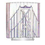 Chesapeake Bridge Between The Lines Shower Curtain