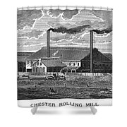 Chester Rolling Mill Shower Curtain