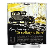 Chevrolet Ad, 1926 Shower Curtain