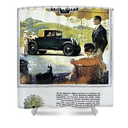 Chevrolet Ad, 1927 Shower Curtain