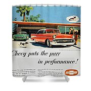 Chevrolet Ad, 1957 Shower Curtain