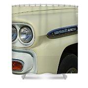 Chevrolet Apache 31 Fleetline Headlight Emblem Shower Curtain